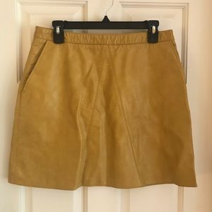 NWT Zara Faux Leather Mini Skirt